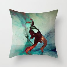 Dancing in jupiter Throw Pillow