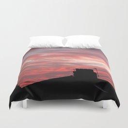 Winter sunset over London Duvet Cover