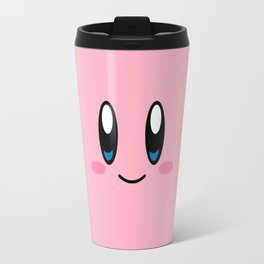 Kirby Face (Pink) Travel Mug