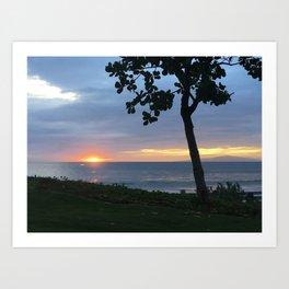 SLIVER OF A SUNSET Art Print