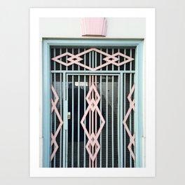 art deco gate in hackney, london Art Print