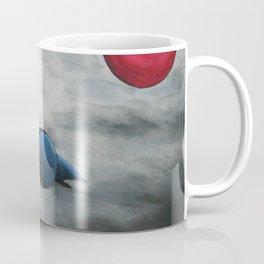 Bird and pink sun Coffee Mug