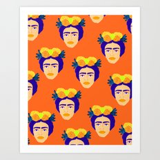 Colorful Frida Art Print