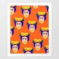 Colorful Frida Art Print