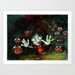 Oh God Spiders Art Print