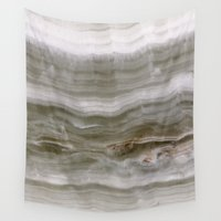 white marble Wall Tapestries featuring Marble by Santo Sagese