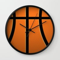 basketball Wall Clocks featuring Basketball by Eye Shutter to Think Photography