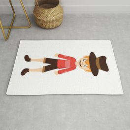 A Perfect Gift For Your Sibling Or Friend An Illustration Of  A Boy With A Hat T-shirt Design Bro Rug