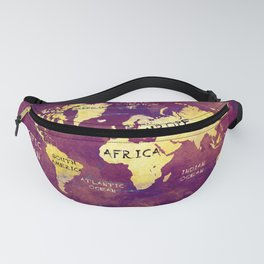 world map 17 Fanny Pack