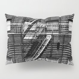 Fire escapes at noon Pillow Sham