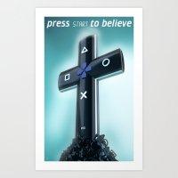 religion Art Prints featuring Game religion by Dmitriy Turovskiy (pushok12)