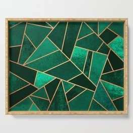 Emerald and Copper Serving Tray