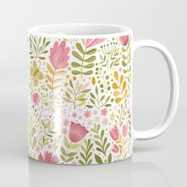garden with green and pink flowers Coffee Mug