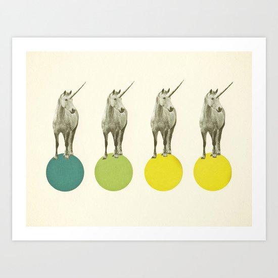 Unicorn Parade Art Print