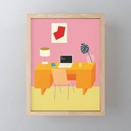 No Ideas Framed Mini Art Print