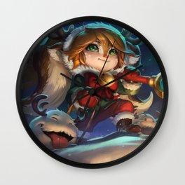 Snow Fawn Poppy League Of Legends Wall Clock