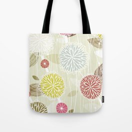 Abstract Floral Beige by Friztin Tote Bag