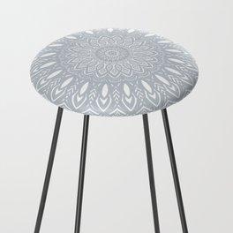 Cool Gray Mandala Simplistic Bold Minimal Minimalistic Counter Stool