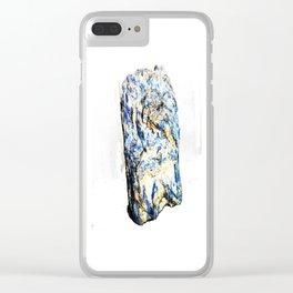 Kyanite crystall Gemstone Clear iPhone Case