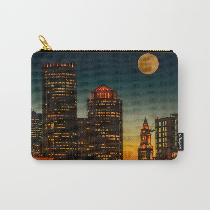 Boston Pink  Moon Carry-All Pouch