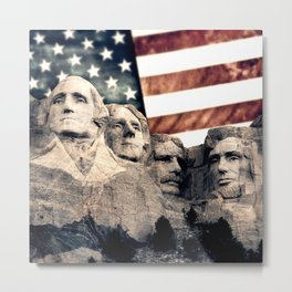 Patriotic Mount Rushmore Metal Print