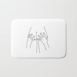 Butt Touch Bath Mat