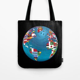 World Map Globe Atlas National Flags Earth Day Tote Bag
