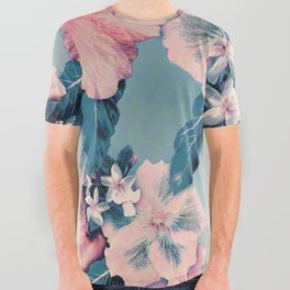 Vintage Nui Loa Hibiscus All Over Graphic Tee