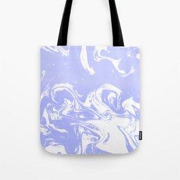 Suminagashi marble pastel blue minimal painting watercolor abstract Tote Bag