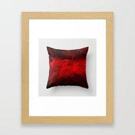 Modern Art - Dark Red Throw Pillow - Jeff Koons Inspired - Postmodernism - Corbin Henry Framed Art Print