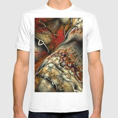Glynnia Fractal Art Mens Fitted Tee White MEDIUM