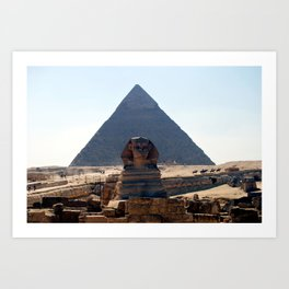 The Great Sphinx of Giza, Cairo, Egypt Art Print