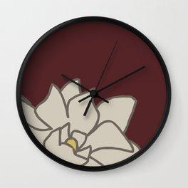 Gardenias No 01 Wall Clock