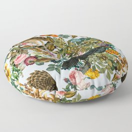 FLORAL AND BIRDS VI Floor Pillow