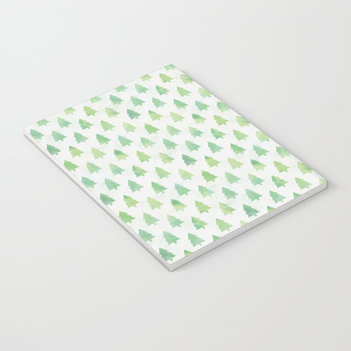 Simple Pine Tree Forest Pattern Notebook