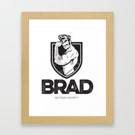 BRAD Framed Art Print