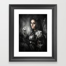 Northern Wolf Framed Art Print