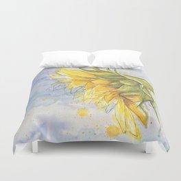 Helianthus annuus: Sunflower Abstraction Duvet Cover