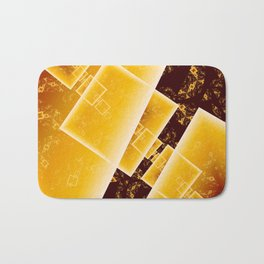 Flying Squares Abstract Geometric Fractal Art Bath Mat