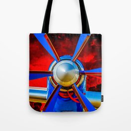 Blue propeller Tote Bag