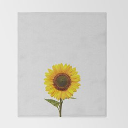 Sunflower Still Life Throw Blanket