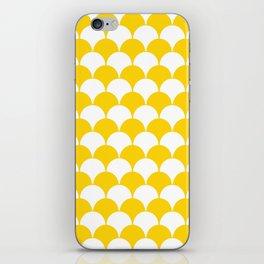 Fan Pattern 321 Yellow iPhone Skin