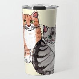 Two Cats Travel Mug