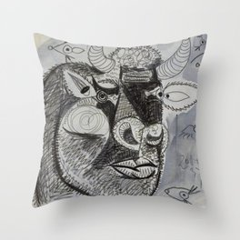 Pablo Picasso Bull Painting 1937 Artwork for Prints Posters Tshirts Bags Men Women Youth Throw Pillow