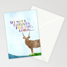 My Soul Thirsts Stationery Cards