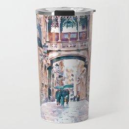 Carrer del Bisbe - Barcelona Travel Mug