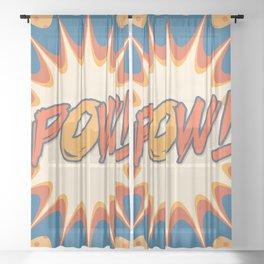 POW! Polka Dot Vintage Graphic Novel Art Sheer Curtain