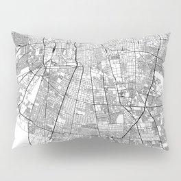 Santiago White Map Pillow Sham