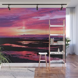 Deep Red Saturated Sunset Wall Mural