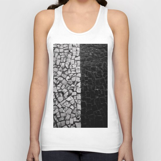Black and White on the streets Unisex Tank Top